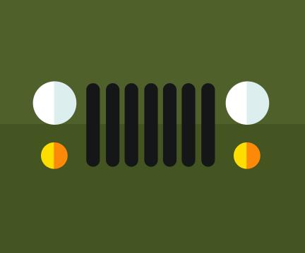 两边为左右对称的两个黄点,两个白点,中间拥有七条黑色七条黑色竖线