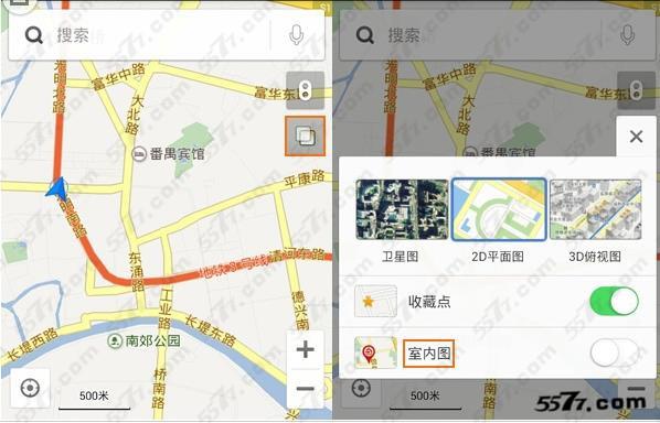 百度地图室内定位操作方法
