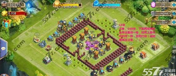 城堡争霸16本布局阵型图攻略