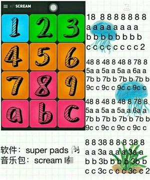 erPads MEGALOVANIA教程数字谱下载 SuperPads MEGALOVANIA