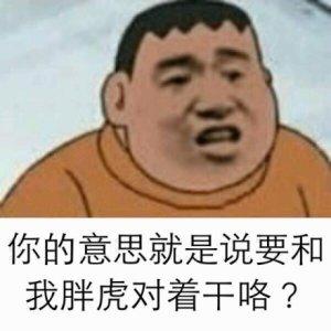 胖虎动画搞笑有字的表情表情图片