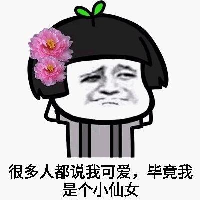 我是小仙女不能生气表情包