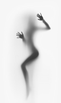 唯美人物动作影子壁纸素材