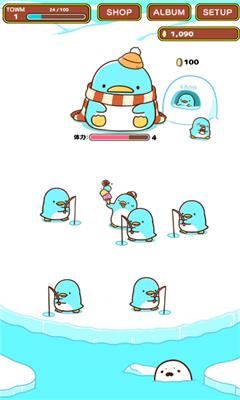 在游戏中,玩家们可以来培育各种从蛋里孵出来的企鹅(有时还可以孵出新