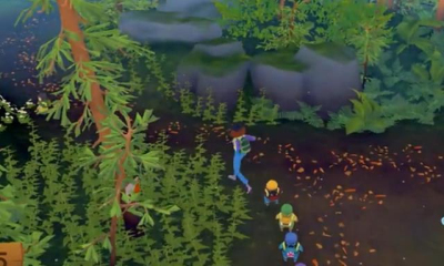 滑稽的森林郊游游戏